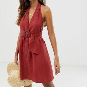 ASOS rust halter dress US6 never worn